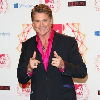David Hasselhoff in The MTV EMA's 2012 - Arrivals