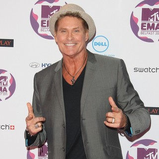David Hasselhoff in The MTV Europe Music Awards 2011 (EMAs) - Arrivals