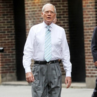 David Letterman in Celebrities Outside The Ed Sullivan Theater for The David Letterman Show
