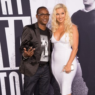 Tommy Davidson, Arleen Davidson in World Premiere of Universal Pictures' Straight Outta Compton - Arrivals