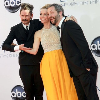 Jeremy Davies, Leslie Mann, Judd Apatow in 64th Annual Primetime Emmy Awards - Arrivals