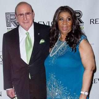 Clive Davis, Aretha Franklin in The 2012 Concert for The Rainforest Fund Afterparty - Arrivals