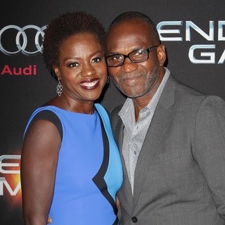 Viola Davis, Julius Tennon in Premiere Ender's Game