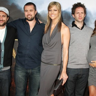 Charlie Day, Rob McElhenney, Kaitlin Olson, Glenn Howerton, Jill Latiano in Cowboys and Aliens Premiere - Arrivals