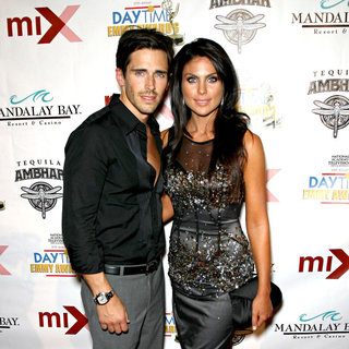 Brandon Beemer, Nadia Bjorlin in 2010 Daytime Emmy Awards Official Pre-Party