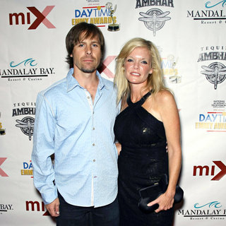 Scott DeFreitas, Maura West in 2010 Daytime Emmy Awards Official Pre-Party