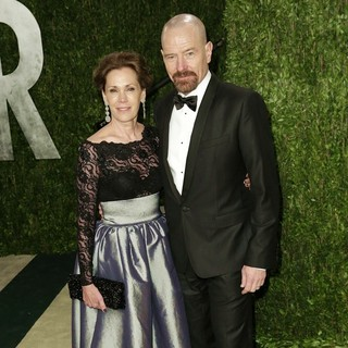 Robin Dearden, Bryan Cranston in 2013 Vanity Fair Oscar Party - Arrivals