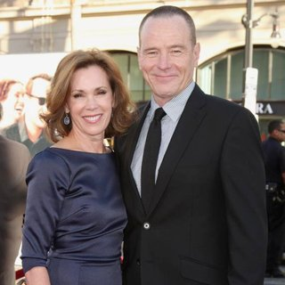 Robin Dearden, Bryan Cranston in Larry Crowne Los Angeles Premiere