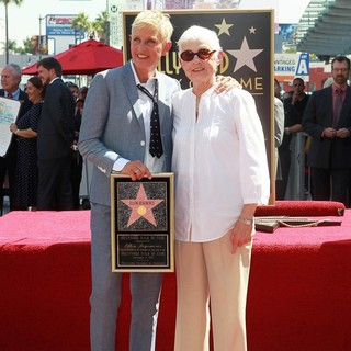 Ellen DeGeneres, Betty DeGeneres in Ellen DeGeneres Is Honored with A Star on The Hollywood Walk of Fame