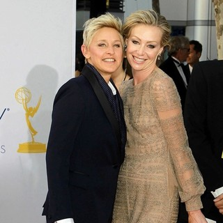 Ellen DeGeneres, Portia de Rossi in 64th Annual Primetime Emmy Awards - Arrivals