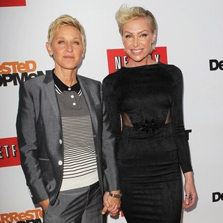 Ellen DeGeneres, Portia de Rossi in Netflix's Los Angeles Premiere of Season 4 of Arrested Development