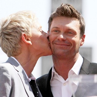Ellen DeGeneres, Ryan Seacrest in Ellen DeGeneres Is Honored with A Star on The Hollywood Walk of Fame