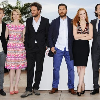 Dane DeHaan, Mia Wasikowska, Jason Clarke, Tom Hardy, Jessica Chastain, Shia LaBeouf in Lawless Photocall - During The 65th Annual Cannes Film Festival