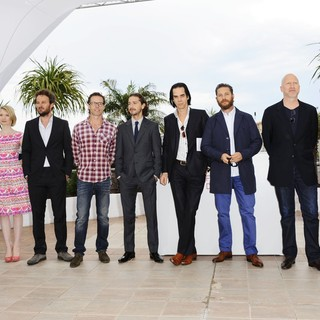 Dane DeHaan, Mia Wasikowska, Jason Clarke, Guy Pearce, Shia LaBeouf, Nick Cave, Tom Hardy, John Hillcoat, Jessica Chastain in Lawless Photocall - During The 65th Annual Cannes Film Festival