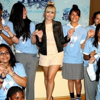 Demi Lovato in Demi Lovato Surprises Students During The Drama Free School Year Anti-Bullying Assembly