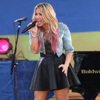 Demi Lovato in Demi Lovato Performs as Part of Good Morning America's Summer Concert Series