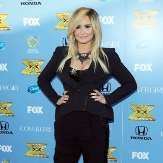 Demi Lovato in The X Factor Season Three Premiere Party