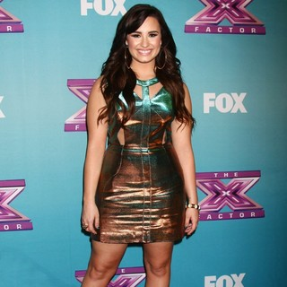 Demi Lovato in The X Factor Season Finale - Red Carpet Arrivals