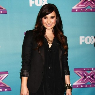 Demi Lovato in The X Factor Season Finale Performances Show Taping