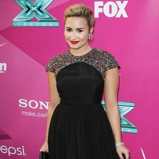 Demi Lovato in The X Factor Season Two Premiere Screening and Handprint Ceremony