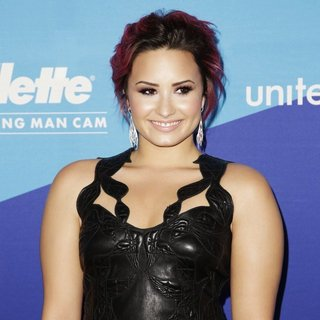 Demi Lovato in unite4:good and Variety Present unite4:humanity