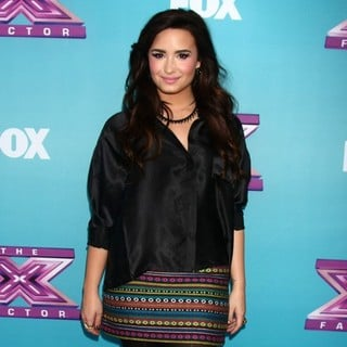 Demi Lovato in X Factor USA Finals Press Confrence
