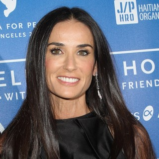 Demi Moore in Cinema for Peace Event Benefitting J-P Haitian Relief