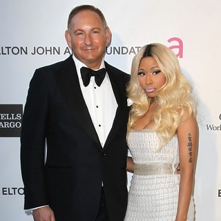 John Demsey, Nicki Minaj in 21st Annual Elton John AIDS Foundation's Oscar Viewing Party