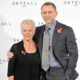 Judi Dench, Daniel Craig in The 23rd James Bond Movie Photocall