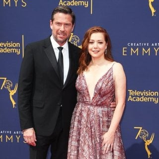 Alexis Denisof, Alyson Hannigan in 2018 Creative Arts Emmy Awards - Day 1 - Arrivals