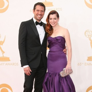 Alexis Denisof, Alyson Hannigan in 65th Annual Primetime Emmy Awards - Arrivals