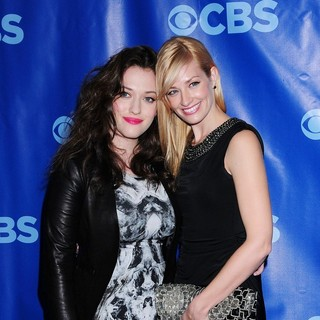 Kat Dennings, Beth Behrs in 2011 CBS Upfront