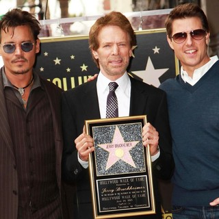 Johnny Depp, Jerry Bruckheimer, Tom Cruise in Jerry Bruckheimer Honored on The Hollywood Walk of Fame