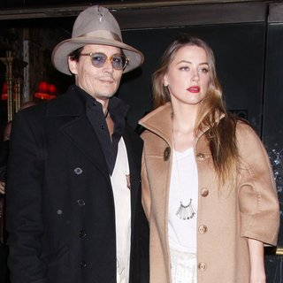Johnny Depp, Amber Heard in Opening Night of Broadway's Cabaret - Arrivals
