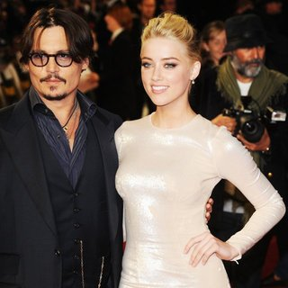 Johnny Depp, Amber Heard in The UK Premiere of Rum Diary