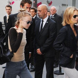 Lily-Rose Depp, Vanessa Paradis in Paris Haute Couture Fashion Week Winter 2015-2016 - Chanel - Arrivals