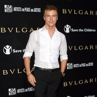 Derek Hough in Bvlgari Private Event Honoring Simon Fuller And Paul Haggis - Red Carpet Arrivals