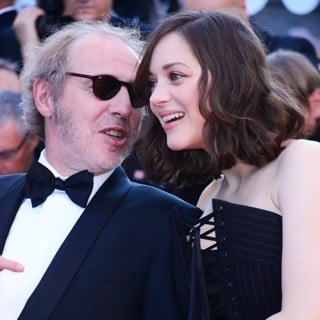 Arnaud Desplechin, Marion Cotillard in The Opening Gala Screening of Ismael's Ghosts at The 70th Annual Cannes Film Festival