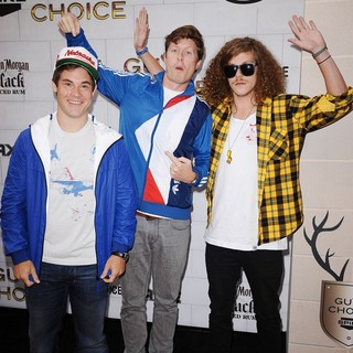 Adam DeVine, Anders Holm, Blake Anderson in Spike TV's 2012 Guys Choice - Arrivals