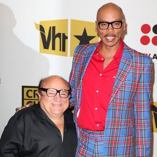 Danny DeVito, RuPaul in The 2011 Critics Choice Television Awards Luncheon - Red Carpet