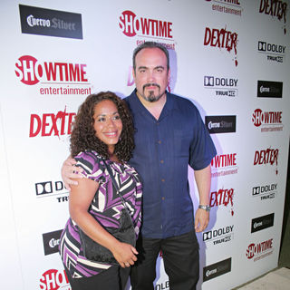 Liza Colon-Zayas, David Zayas in Dexter Season Four Blu-Ray and DVD Release Party