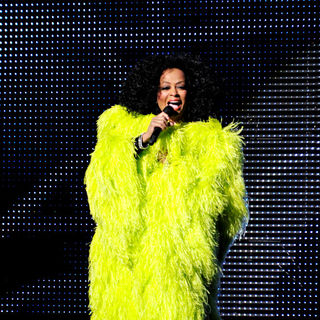 Diana Ross in Diana Ross Performing Live on Stage During Her 'More Today Than Yesterday' Tour