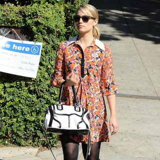 Dianna Agron in Dianna Agron Arriving at The Voting Polling Station for The US Presidential Election