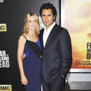 Kim Dickens, Cliff Curtis in Premiere of Fear the Walking Dead Season 2 - Arrivals