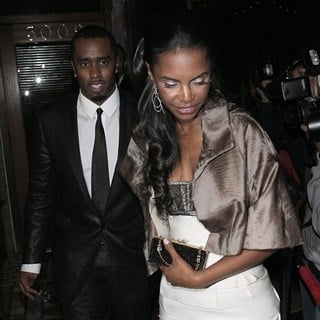 P. Diddy - P. Diddy and Kim Porter Arriving at A Party Thrown by The Beckhams