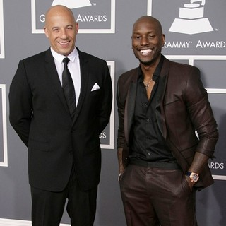 Vin Diesel, Tyrese Gibson in 55th Annual GRAMMY Awards - Arrivals