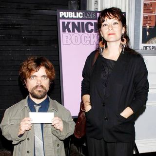 Peter Dinklage, Erica Schmidt in Opening Night of The Public Theater Lab Production of Knickerbocker Directed by Pippin Parker
