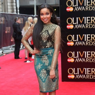 Dionne Bromfield in The Olivier Awards 2013 - Arrivals