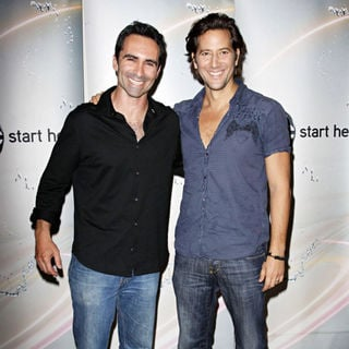 Nestor Carbonell, Henry Ian Cusick in Disney/ABC Television Group Summer Press Junket - Arrivals