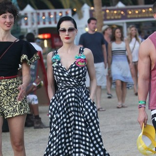 Dita Von Teese in Celebrities at The 2012 Coachella Valley Music and Arts Festival - Week 2 Day 3
